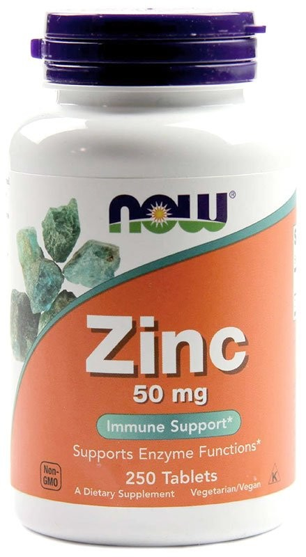 Now Zink Gluconate 50 мг 250 таблеток