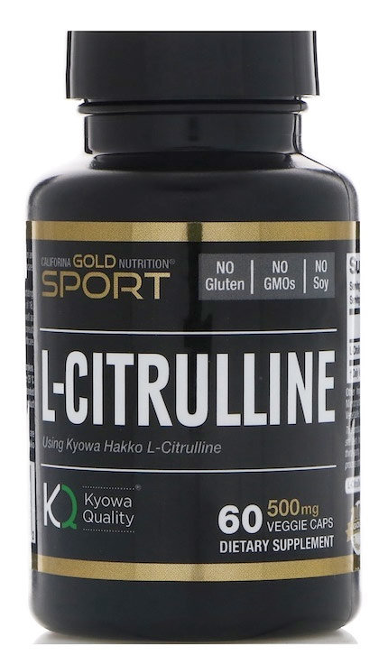 California Gold Nutrition L-Citrulline 500 мг 60 капсул