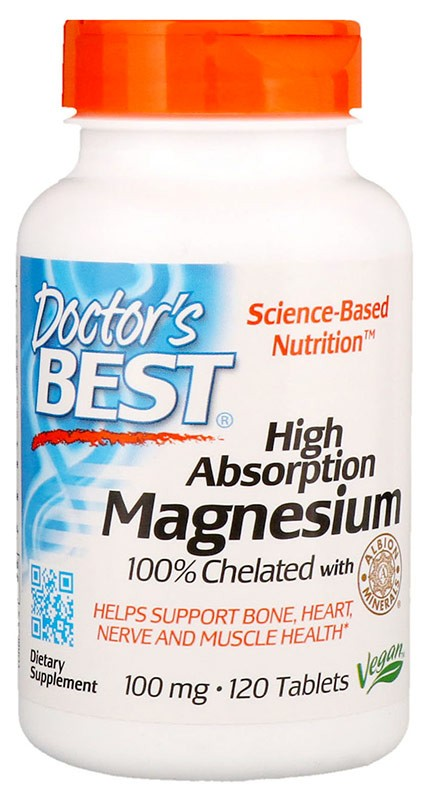 Doctor's Best High Absorption Magnesium 100% Chelated 120 таблеток