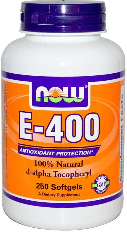 Now E-400 Natural d-alpha Tocopheryl 250 гелевых капсул