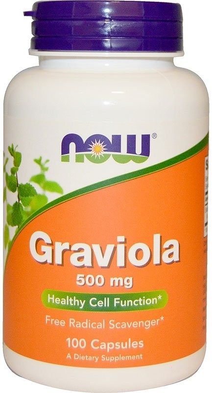 Now Graviola 500 мг 100 капсул