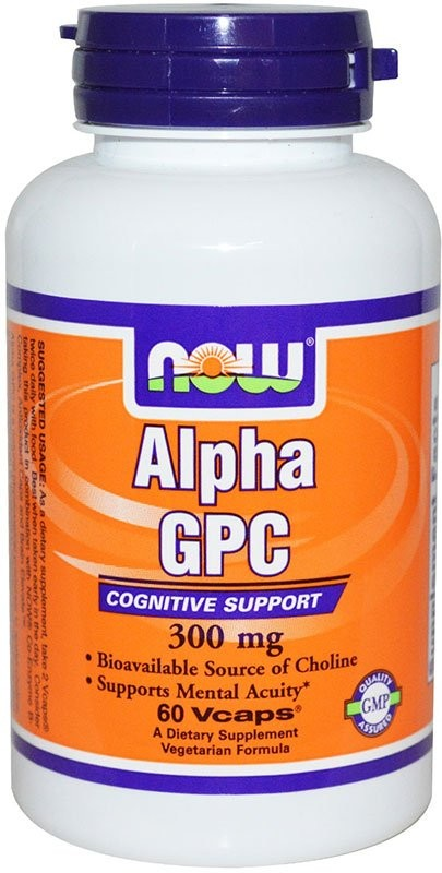 Now Alpha Gpc 300 мг 60 капсул
