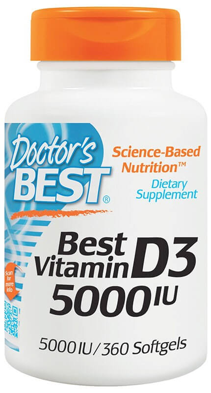 Doctor's Best Best Vitamin D-3 5000 Ме 360 гелевых капсул