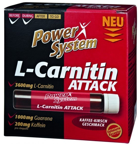 Power System L-Carnitin Attack 3600 мг 25 мл