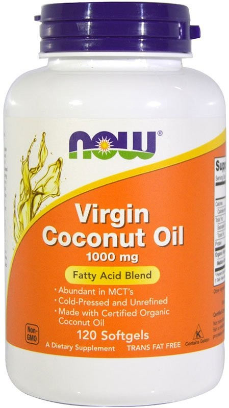 Now Virgin Coconut Oil 1000 мг 120 гелевых капсул