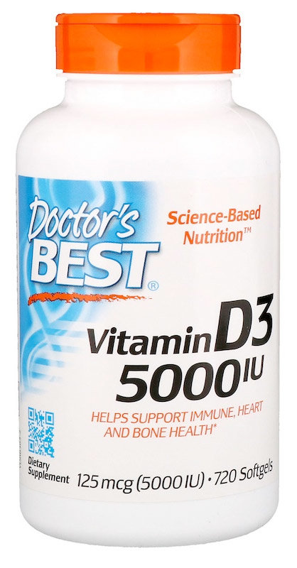 Doctor's Best Best Vitamin D3 5000 Ме 720 гелевых капсул