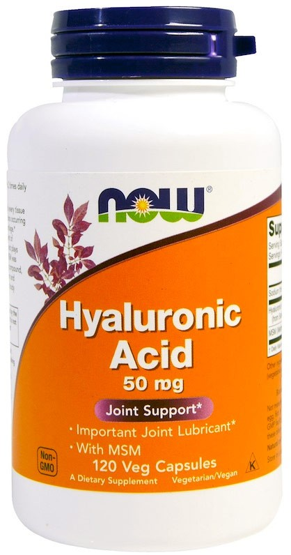Now Hyaluronic Acid with Msm 50 мг 120 капсул