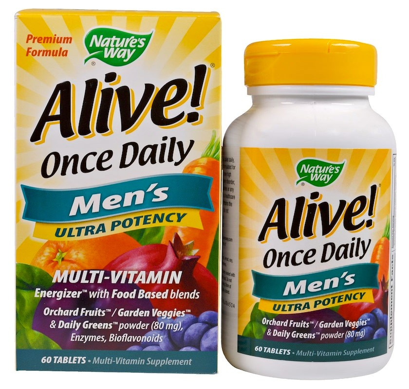 Nature's Way Alive! Once Daily Men's 60 таблеток