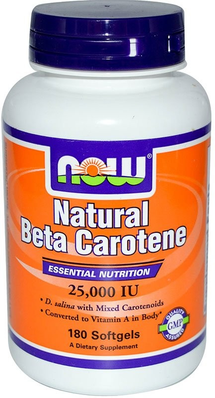 Now Natural Beta Carotene 25000 180 капсул