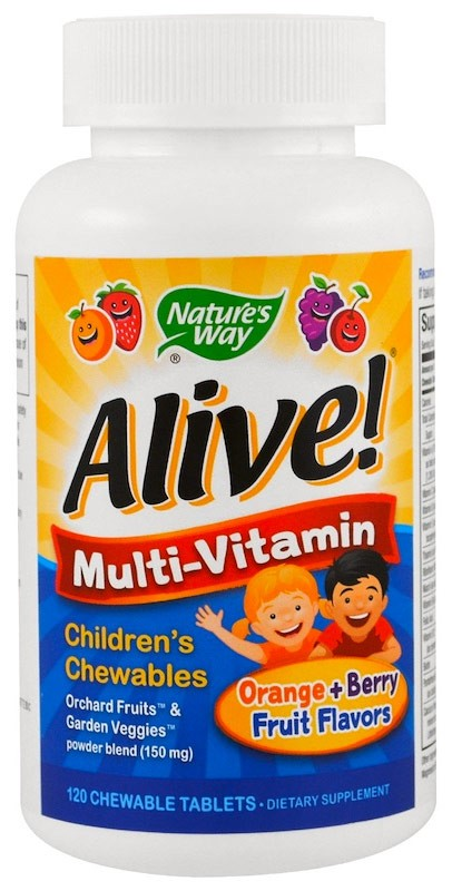 Nature's Way Alive! Once Daily Children's Chewable Multi-Vitamin 120 жевательных таблеток