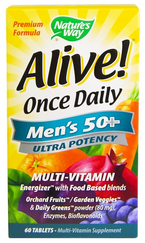 Nature's Way Alive! Once Daily Men's 50+ 60 таблеток