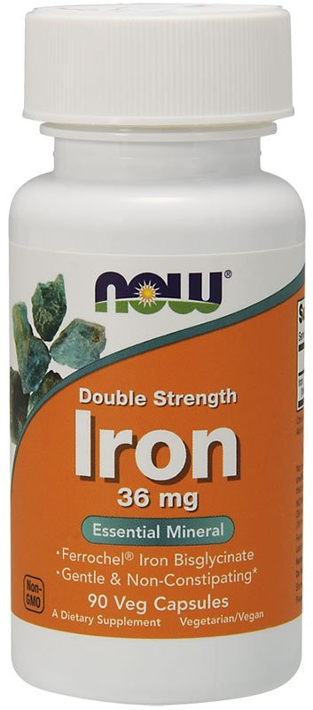 Now Iron Double Strength 36 мг 90 капсул