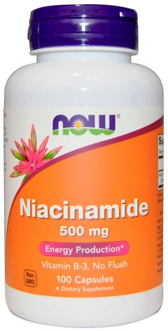 Now Niacinamide 500 мг 100 капсул