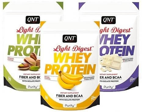 Купить Qnt Whey Protein Light Digest 500 г, Бельгия