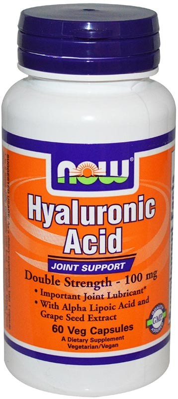 Now Hyaluronic Acid 100 мг 60 капсул