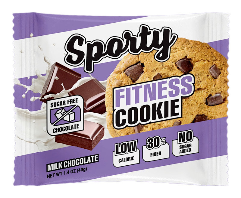 Sporty Fitness Cookie 40 г Низкокалорийное фитнес-печенье без сахара