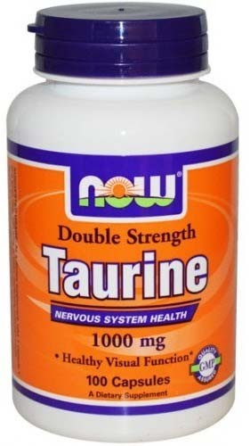Now Taurine 1000 мг 100 капсул