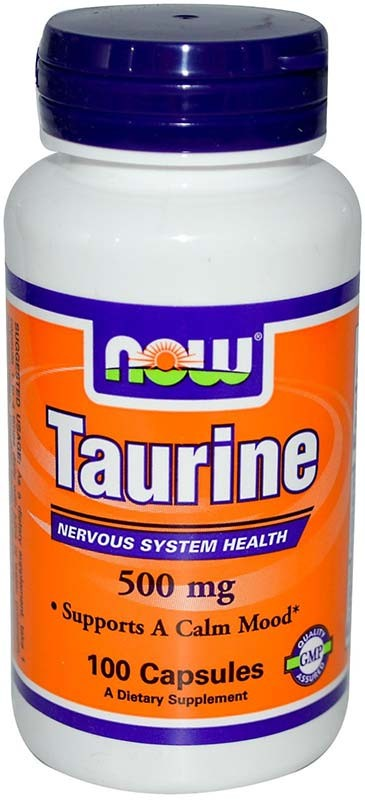 Now Taurine 500 мг 100 капсул