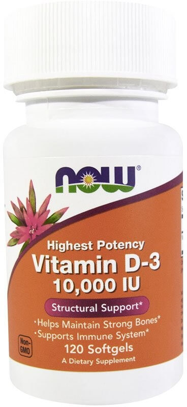 Now Vitamin D-3 10000 Me 120 гелевых капсул