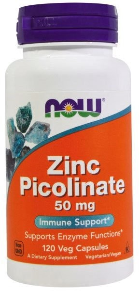Now Zinc Picolinate 50 мг 120 капсул