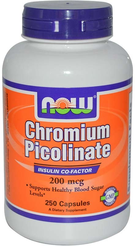 Now Chromium Picolinate 200 мкг 250 капсул