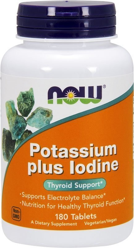 Now Potassium Plus Iodine 180 таблеток