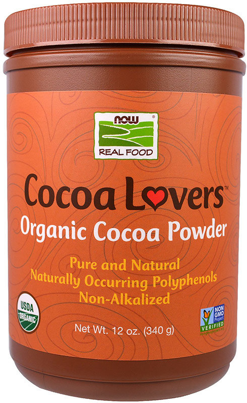 Купить Now Organic Cocoa Powder 340 г, США
