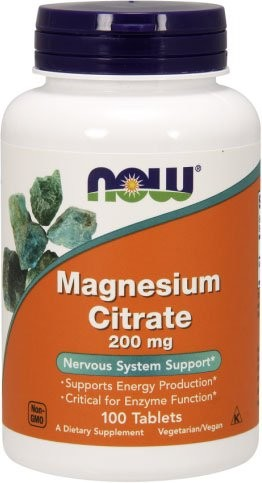 Now Magnesium Citrate 200 мг 100 таблеток