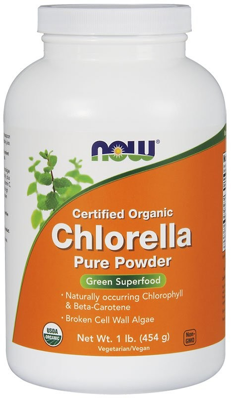 Купить Now Chlorella Pure Powder Organic 454 г, США