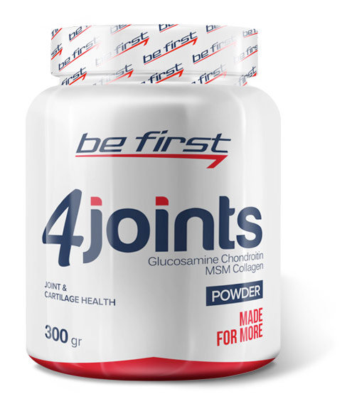 Be First 4joints Powder 300 г Glucosamine Chindroitin Msm Collagen